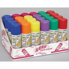 neon party supplies bulk colored hair spray party supplies neon hair spray asstd 45