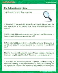 the subtraction mystery fun grade 1 math worksheets mathblaster