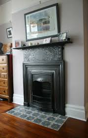 cast iron art nouveau bedroom fireplace the detail has been