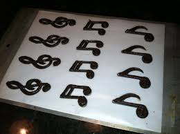 Musical Note Decorations The Iced Queen Chocolate Music Notes
