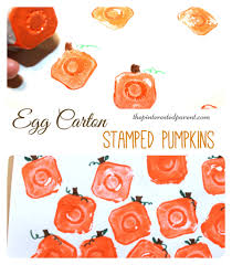 Halloween Art And Crafts by Egg Carton Stamps U2013 The Pinterested Parent