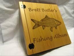 3 Ring Photo Album Engraved 3 Ring Fishing Album