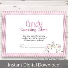 baby shower guessing baby shower candy guessing pink elephant baby