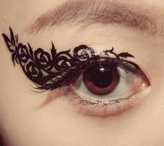 1 pair eye temporary makeup eyeshadow black butterfly