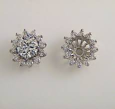 diamond earring jackets diamond studs and diamond earring jackets k w jewelry