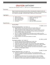 Security Job Resume Samples security officer resume examples and samples resume for your job
