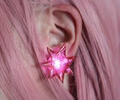 Jem Halloween Costume Diy Jem Holograms Earrings 7 Steps Pictures