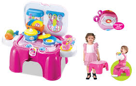 Plastic Toy Kitchen Set Berry Toys My First Portable Play And Carry Kitchen Bench Play Set