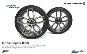 volkswagen parts vw audi seat skoda racingline vwr r360 wheels diamond cut 19 u2033 x