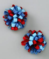 fourth of july hair bows 4th of july hair bow hair bows hairbow funky loopy 4th of july