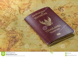 World Map Thailand by Thailand Passport On A Old World Map Stock Photo Image 62618480