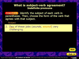using subject verb agreement what is subject verb agreement
