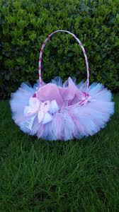 flower basket tutu basket easter basket lined wedding