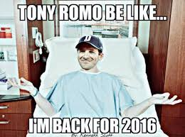 Injury Meme - tony romo back injury memes the best of the internet s roast of