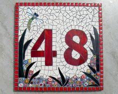 glass door number signs custom mosaic house number sign plaque street address yard art