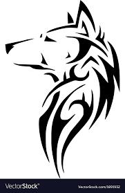 tribal wolf royalty free vector image vectorstock