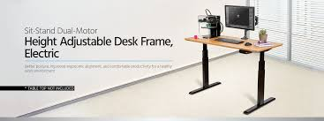 Adjustable Height Desks by Sit Stand Dual Motor Height Adjustable Table Desk Frame Electric