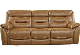 milano brown leather power plus reclining sofa contemporary