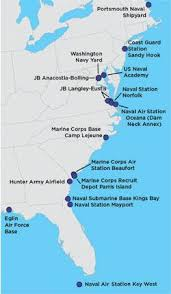 map us army bases the us on the front lines of rising seas 2016 union
