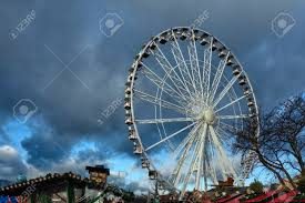 ferris wheel at winter hyde park stock photo picture