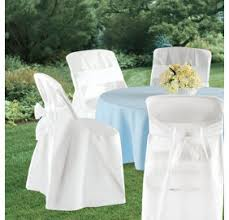 disposable chair covers white folding chair covers party city