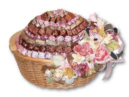 chocolate baskets large wicker basket filled with chocolate panache