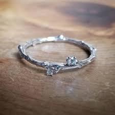 silver engagement ring gold wedding band diamond rings beadage