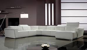 White Italian Leather Sectional Sofa Tempo White Top Grain Italian Leather Living Room