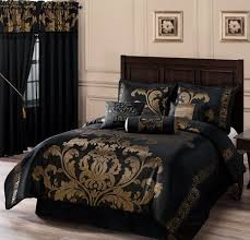 Black And Gold Crib Bedding Chezmoi Collection Royale 7 Jacquard Floral Comforter Set