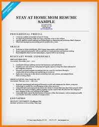 11 stay at home mom resume example mbta online
