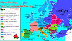 how to sat u0027watermelon u0027 in europe with etymology maps pinterest