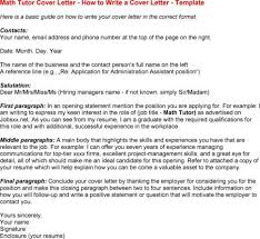 online math tutor cover letter