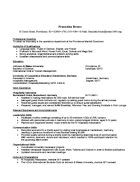 Resume Organizational Skills Examples by International Student Resume And Cv Examples Free Download