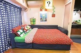 mario bedroom super mario bros airbnb in tokyo popsugar tech