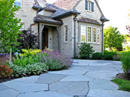front entry ideas decorating bluestone walkway with shrubs and perennials also