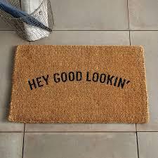 Holiday Doormat Hey Good Lookin U0027 Coir Doormat West Elm