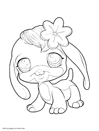 littlest pet shop lps coloring pages colourings print