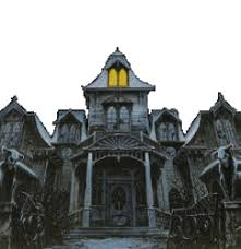 pictures of cartoon haunted houses spooky halloween witches ghosts skeletons bats and goblin
