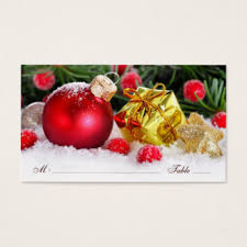 christmas place cards u0026 escort cards zazzle co nz