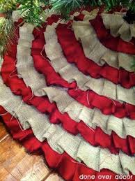 decor ruffle no sew tree skirt the burlap and