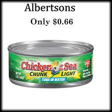 bumble bee chunk light tuna albertson chicken of the sea or bumble bee chunk light tuna only