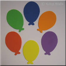 foam die cut shapes oval balloons pack of 6 0 15 card