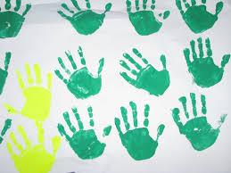 handprint christmas tree craft learning 4 kids