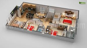 3d first floor plan design rendering animation floorplan tiny