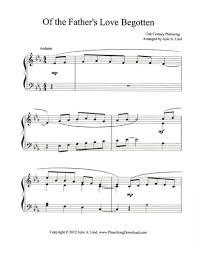 of the father u0027s love begotten free christmas sheet music to print