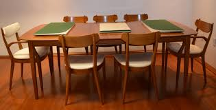 mid century dining table and chairs kipp stewart for drexel heritage mid century modern dining table