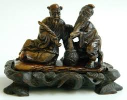Soapstone Carving Blocks Chinese Soapstone Carving What Are They Holding Doing