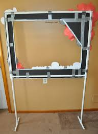 background for halloween photo booth the back of photo booth frame on pvc pipe stand duck tape is my
