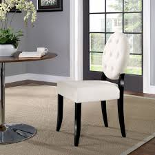 modway eei 1381 bei button dining chair w tufted beige fabric