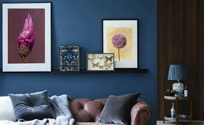 blue accent wall create compelling blue accent walls with art blink art
